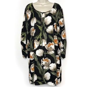 3/$25 Tria Tria+ Black Floral Dress/Cover Up 2X